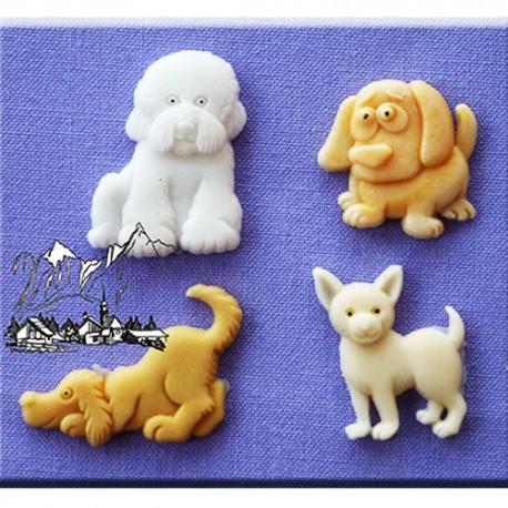 Molde de silicona con motivo de perros Alphabet Moulds
