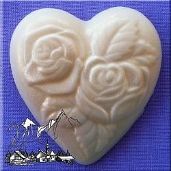 Molde de silicona con diseño de corazon con rosas Alphabet Moulds