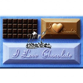 Molde de silicona rectangular con texto I Love Chocolate Alphabet Moulds