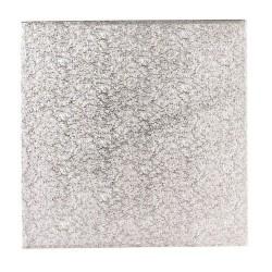 Base cuadrada plateada 20x20 cm. para tartas Culpitt
