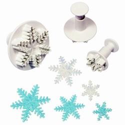Cortante copo de nieve PME con expulsor, 3 uds