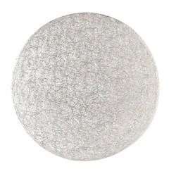 Base redonda plateada fina 18 cm.