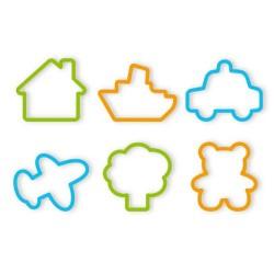 Cortantes mini de galletas para niño con diferentes formas, 6 uds. Tescoma
