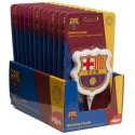 Vela de fiesta para decoración de tartas y postres, escudo FC Barcelona
