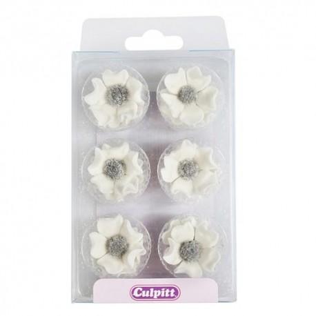 Flores Anemonas en pasta de azúcar Culpitt