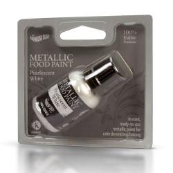 Pintura metálica, Raimbow Dust, color blanco perlado