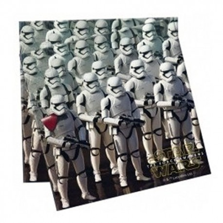 SERVILLETAS Star Wars STORMTROOPER 33x33 cm. PACK x 20