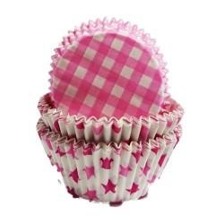 mini cápsulas, pirotines, cupcakes