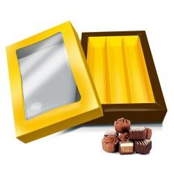 caja bombones color dorado