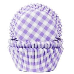 CAPSULAS HoM CUADROS LILA, cupcakes, magdalenas