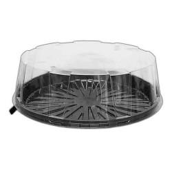 CAJA PLASTICO TARTAS, caja redonda plastico