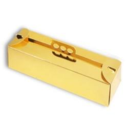Caja brazo Rectangular oro 39x13 cm