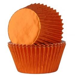 moldes cupcakes, magdalenas, Capsulas naranja lauminio, House of marie