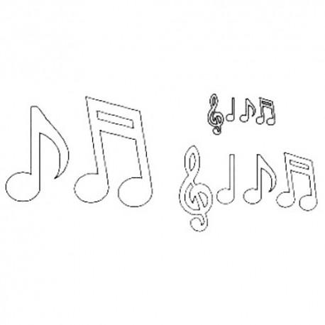 Patchwork De Notas Musicales Y Clave De Sol