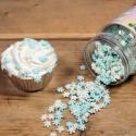 COPOS de NIEVE, decoracion azucar comestible, FunCakes, sprinkles copos